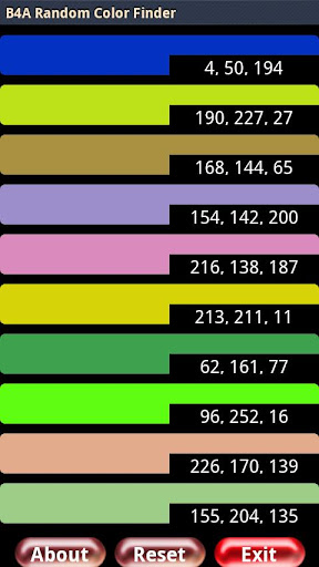 【免費生產應用App】B4A Random Color Finder-APP點子