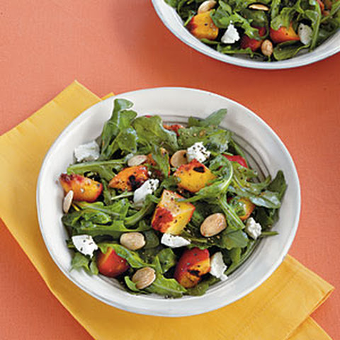 goat cheese roast chicken salad with peaches goat cheese and pecans ...