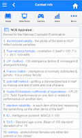 Screenshot of NCE Flashcards