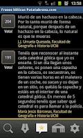 Screenshot of Frases Míticas