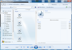Screenshot of Windows Media Player Remote