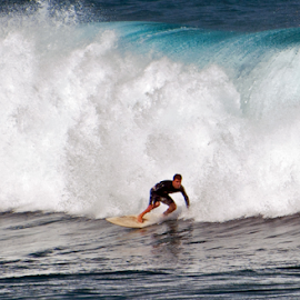 Big Wave Surfer by Keith Sutherland - Sports & Fitness Surfing ( maui, speed, surfer, wave, sport, ocean, man )