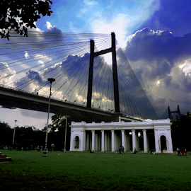 Prinsep Ghat at Calcutta  by Soma Chakraborty - Buildings & Architecture Bridges & Suspended Structures