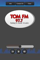 Screenshot of 97.7 Tom-FM
