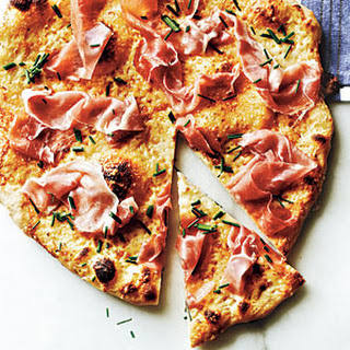 Prosciutto Pizza with Tangy White Sauce