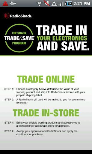 RadioShack Trade Save