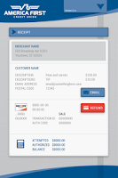 Screenshot of America First Mobile Merchant