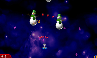 Screenshot of Chicken Invaders 2 Xmas HD
