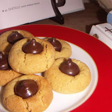 Peanut Butter-Hershey's Kisses Cookies