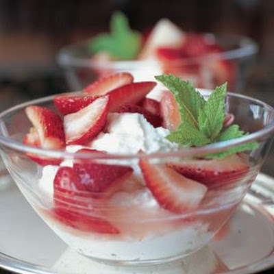 "Strawberries with Ricotta Mousse (Fragole con il ""Mousse"" di Ricotta)"