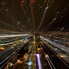 Zooming by Marcos Sanchez - Abstract Light Painting