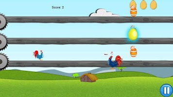 Screenshot of Crazy Chicken Run : Mad Game