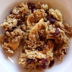 Cinnamon Baked Oatmeal with Dried Apples and Cranberries
