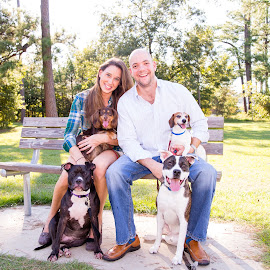 Family of Six by Robb Harper - People Family ( dogs, park, family, outdoors, photos by robb harper, houston tx, portraits )