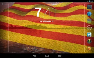 Screenshot of Catalunya Flag Live Wallpaper