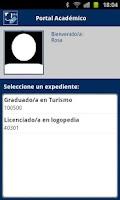 Screenshot of Portal Académico UMA
