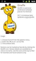 Screenshot of Giraffe