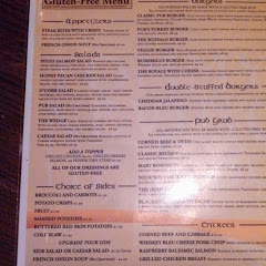 dedicated menu! even GF buns!