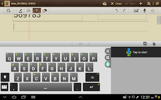 Screenshot of iKnowU Tablet Keyboard FREE