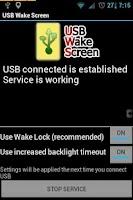 Screenshot of USB Wake Screen