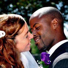 The Kiss by Freddie Washington - Wedding Bride & Groom