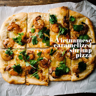 Caramelized Shrimp Pizza