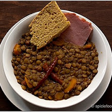 Spicy Lentils With Cornbread