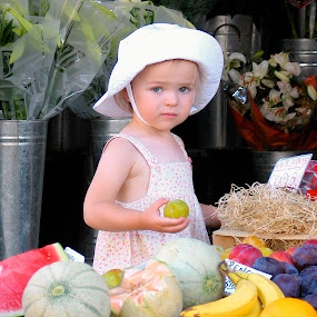 Fruit Picker by Joe Proctor - Babies & Children Child Portraits ( child, fruit, portrait, hat )