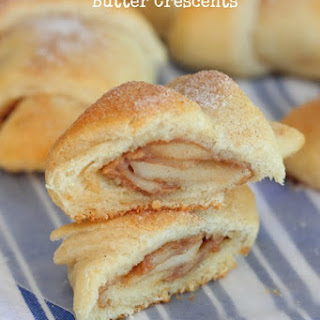 Roasted Apples and Peanut Butter Crescents