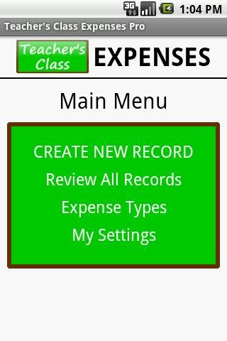 Teacher's Class EXPENSES FREE