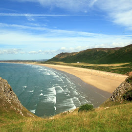 Rhossili, Gower by John Davies - Landscapes Beaches ( gower, rhossili beach, swansea, beautiful beaches, gower peninsula, rhossili )