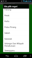 Screenshot of Waktu Solat Malaysia Prayer