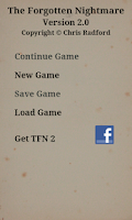 Screenshot of TFN - Text Adventure Game