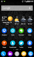 Screenshot of Circles HD Go Nova Apex Theme