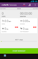 Screenshot of Runtastic Pedometer Step Count