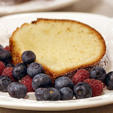 Cream Cheese Pound Cake with David