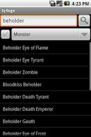 Screenshot of Sylloge D&D Compendium Search