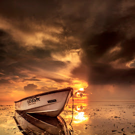 Morning Glory by Ade Irgha - Transportation Boats ( explore bali, sanur, boats, sunrise, seascape )