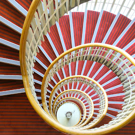 Spiralling down  by Andy Dow - Buildings & Architecture Office Buildings & Hotels ( circular, stairs, buildings, down, spiral )