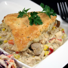 Turkey/Chicken Pot Pie With Herbed Dumpling Crust