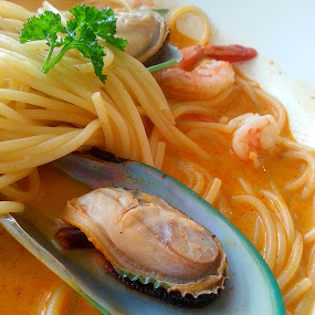 Asian Seafood Pasta  by Jo-Ann Tan - Food & Drink Cooking & Baking
