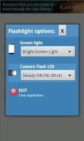 Screenshot of LED Flashlight with blink
