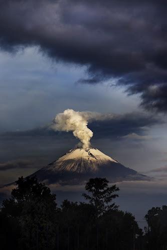 Window in the storm by Cristobal Garciaferro Rubio - Landscapes Mountains & Hills ( clouds, volcano, popo, snow, popocatepetl, storm, snowy volcano, smoking volcano )