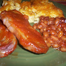 Awesome BBQ Pork Chops and Beans