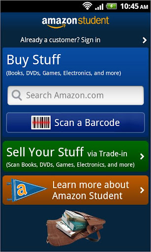 amazon-student for android screenshot