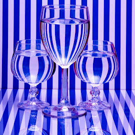 It was a little chilly this morning, so I played with light and stripes. This was inspired by a great photographer named Rakesh Syal. Go to Pixoto.com and look him up. The man takes great pictures. by Dub Scroggin - Artistic Objects Glass