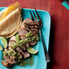 Grilled Pork Tenderloin with Tomatillo Salsa