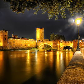 Castle Vechio, Verona by Cristian Peša - City,  Street & Park  Night (  )
