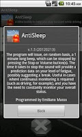 Screenshot of Anti Sleep