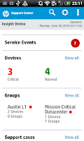 Screenshot of HP Enterprise Support Center